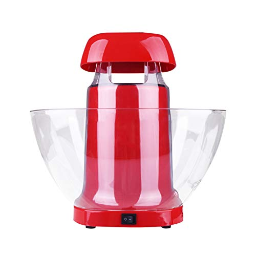 UKKD Hot Air Popcorn Machine, Popcorn Maker, 1200W Hot Air Popcorn Popper for Home, BPA-Free, No Oil Needed Healthy Family