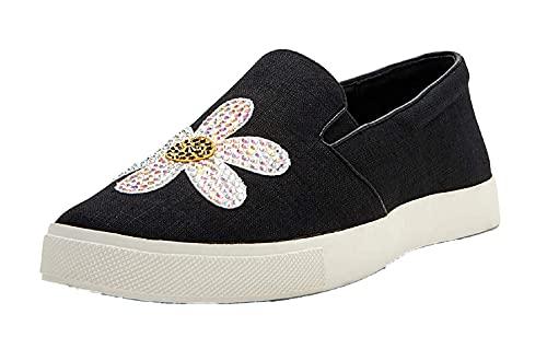 Katy Perry Women's The Kerry Sneaker, DAISY/BLACK, 10