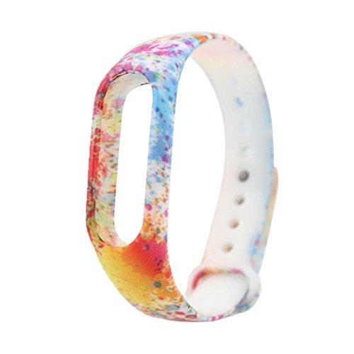 Ouneed, Cinturino per smartwatch Xiaomi Mi Band 2, camouflage multicolore in TPU , Ouneed-88668866, a