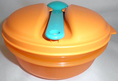 Tupperware Salatschüssel Salat Snack & Go 600 ml orange grün