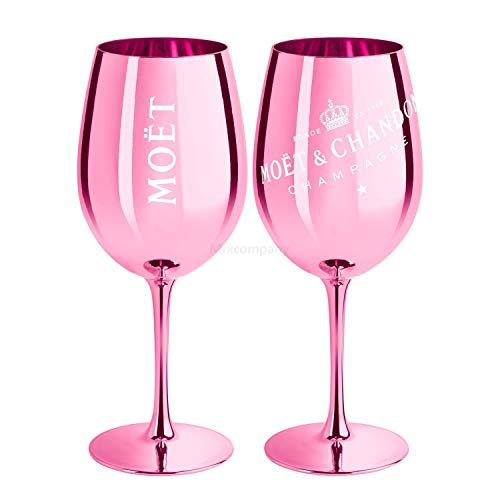 Moet & Chandon Champagne Champagner Glas Gläser Set - 2er Set Rose