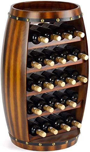 Estante del vino en botella es adecuado para la cocina independiente roble, dormitorio, salón, comedor,Brown