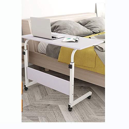 ALBBMY Mesa de ordenador portátil para sofá sobrecama, con ajuste de altura automático (color: blanco 80 x 50 cm)