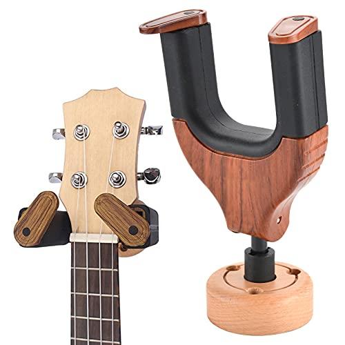 Trintion Gitarrenständer Gitarrenhalter Für Die Wand, Gitarren Wandhalterung Auto Lock Holz Gitarrenwandhalter Gitarrenbügel Gitarren Zubehör Haken Für Ukulele Bassgitarre Akustik Gitarre Ständer
