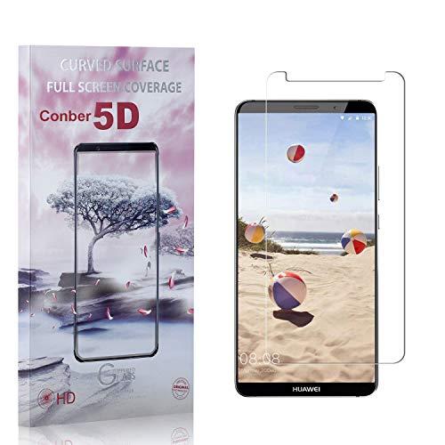 Conber [3 Pièces] Verre Trempé pour Huawei Mate 10 Pro, [9H Dureté][Haut Définition][sans Bulles] Ultra-résistant Film de Protection écran pour Huawei Mate 10 Pro