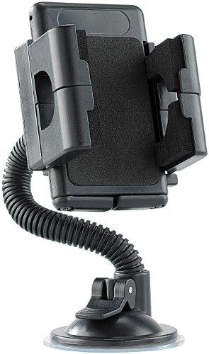 Lescars Smartphone Halter: Kfz-Halterung mit Schwanenhals für Smartphone, Navi und Handy (Handyhalterung Auto Schwanenhals)