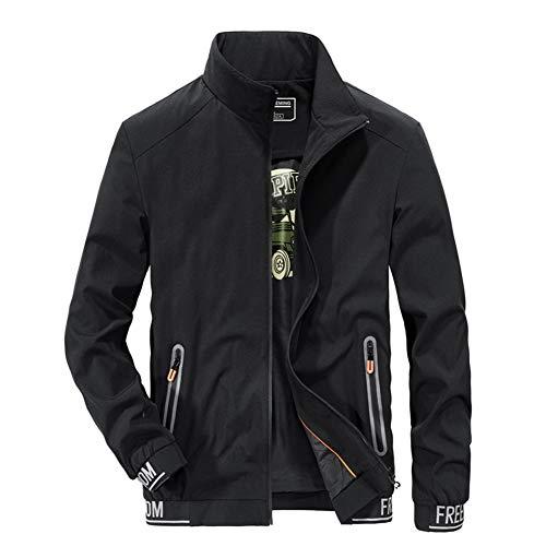 Coat for Men Spring Fall Athletic Jacket Mens Softshell Jacket Breathable Mens Coat, Lightweight Autumn Jacket, Ideal for Travelling,Black,L