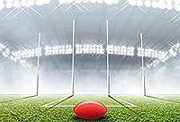 HiYash 10x8ft赤いサッカー場のテーマ写真の背景誕生日の壁の背景布休日の背景写真ビニール写真の背景人目を引く詳細と現実的な色
