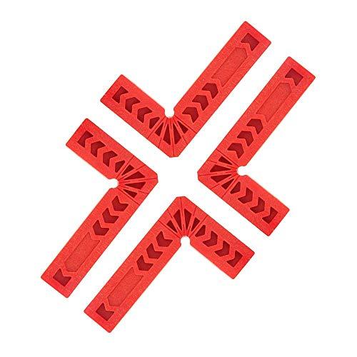 "90 Grad rechts Winkel Klemme 4 Stück, Kunststoff Eckspannwinkel, Winkelklemmen für Holzarbeiten, Zimmermannswerkzeug, 3"" Winkel Positionierwinkel, Holzarbeiten Assist Positioning Tool"