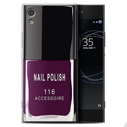 Stuff4® Gel TPU hoes/case voor Sony Xperia XA1 / lila patroon/nagellak/make-up collectie