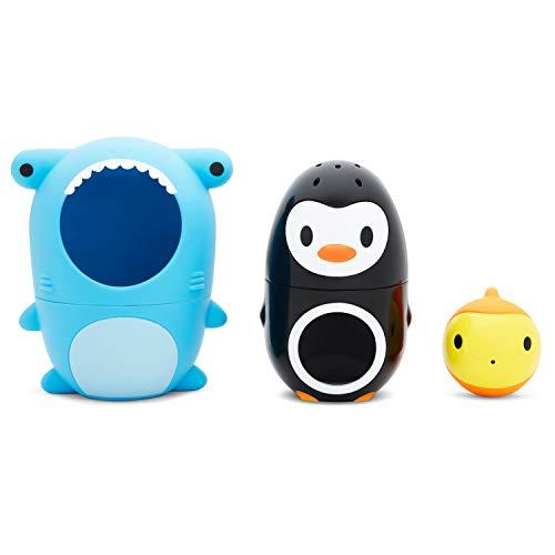 Munchkin Sharky & Pals Nesting Bath Toy, Blue