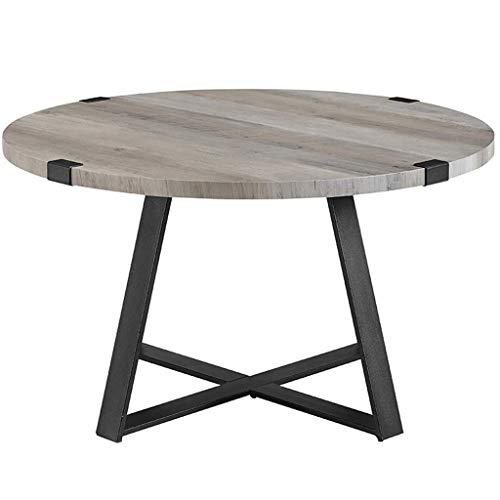 N /A Salon Couchtisch, Dicke Holzplatte, massiver Metallrahmen, Glatte Kanten, sicher zu bedienen, für Home Hotel Studio