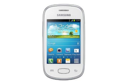 Samsung Galaxy Star S5280 Smartphone (7,6 cm (3 Zoll) Touchscreen, 1GHz, 512MB RAM, 4GB Speicher, 2 Megapixel Kamera, Android 4.1) keramik-weiß