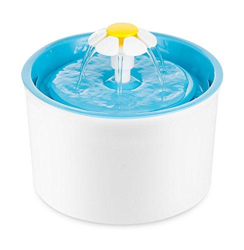 PETGARD Trinkbrunnen Little Flower Weiss-blau 1,6 Liter