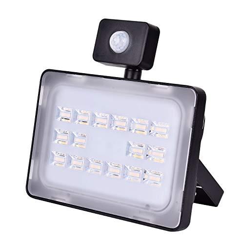 Diodos LED, IP65 a prueba de agua al aire libre Luz de seguridad, haz 120 ° 100LM / W Luz de pared exterior, por yarda del jardín de Garaje Almacén Estacionamiento Área de juegos,50w,Warm white