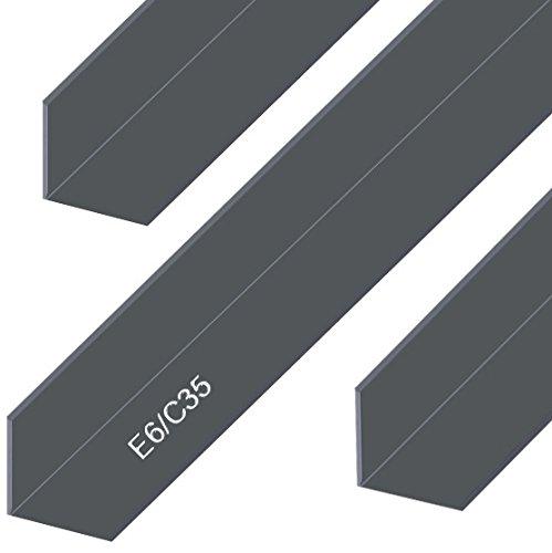 Aluminium Winkel Eloxiert E6/C35 Schwarz Alu Profil L Schiene Aluprofil Winkelprofil Aluwinkel 20x20x2mm 2000mm
