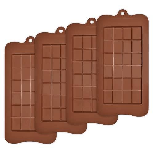 Moldes de chocolate separables, 4 piezas de moldes de silicona para chocolate, antiadherentes, reutilizables, para hornear, hacer bricolaje, dulces, utensilios de chocolate