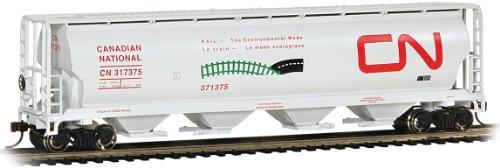 Bachmann Trains - Canadian 4 Bay Cylindrical Grain Hopper - CN Environmental - HO Scale