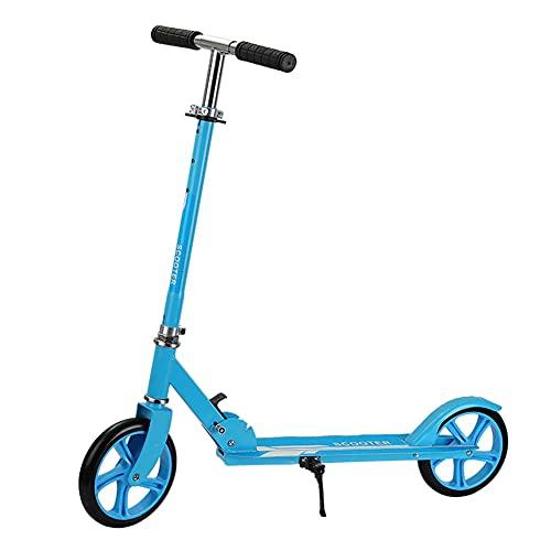 GAOTTINGSD Patinetes para Niños Patinete Plegable,Freestyle Scooter,Muy Duradera,150 Kg De Carga,Máximo Placer De Conducción,para Niños O Adolescentes Mayores De 7 Años (Color : Blue)