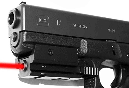 Trinity Red Sight Fits Glock 17 Low Profile Black Home Defense Accessory Tactical Optics Aluminum Black Picatinny Weaver Base Mount Adapter Sporting Sight.