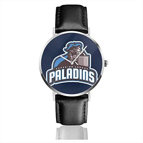 Unisex Business Casual Überlegene Liga Paladins Knight Emblem Uhren Quarz Leder Uhr