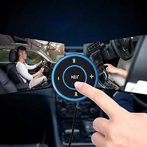 ALLSHOPSTOCK (#40) Car Sports Bluetooth V2.1+EDR Music Player Receiver with LED Light & 3.5mm Stereo Input Jack, Support USB Charge & Hands-Free (Black + Blue)