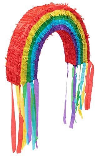 Goodtimes Regenbogen Pinata, 37cm hoch, zum Befüllen mit Süßigkeiten, als Geschenkidee für Geburtstag, Hochzeit, Party