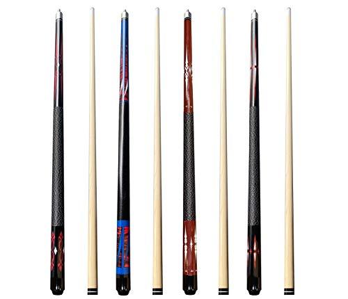 FVSCM Pool Cues 58' Billiard House Bar Pool Cue Sticks  1 Master+3 Guests Set of 4