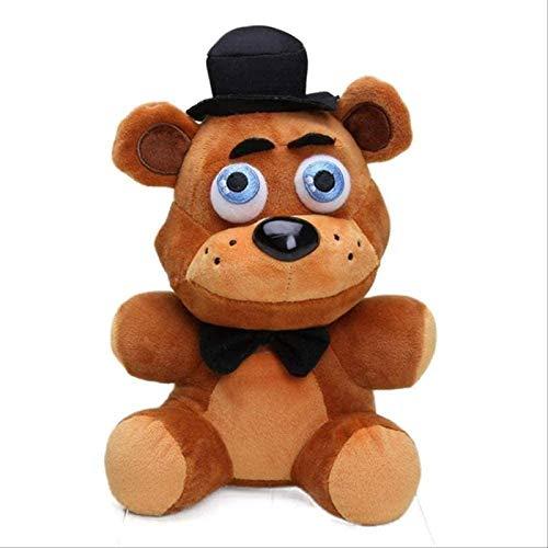 DINEGG Plüschspielzeug 18 cm Fünf Nächte bei Freddy S Phantom Foxy Plüsch Puppe Gefüllte Tier Kinder Große Geschenke 18 cm Alte Braunbär YMMSTORY