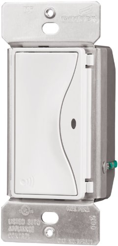 Eaton RF9501AW ASPIRE RF Single-Pole Wireless Light Switch, 15-Amp, Alpine White Finish