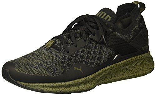 PUMA Men's Ignite Evoknit Lo 2 Hypernature Sneaker, Black-Quiet Shade-Olive Night, 11 M US