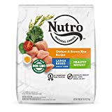 NUTRO NATURAL CHOICE Healthy Weight Large Breed Adult Dry Dog Food, Chicken & Brown Rice Recipe Dog Kibble, 30 lb. Bag