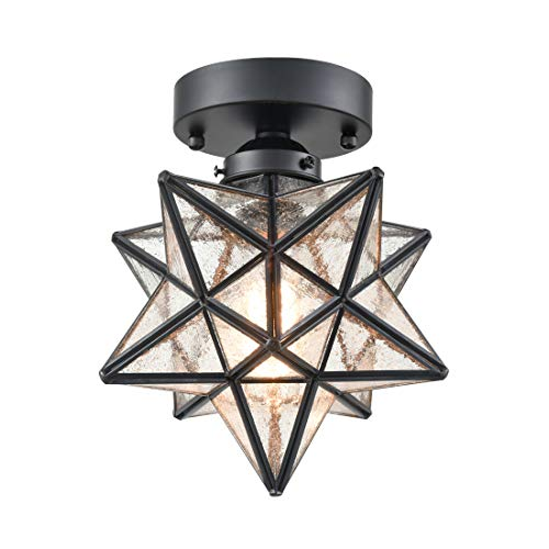 AXILAND Moravian Star Light Flush Mount Ceiling Light with...