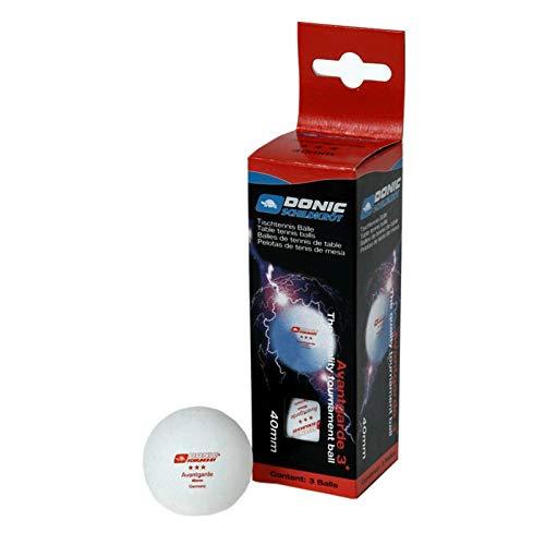 DONIC 2287886 3-Stern Avantgarde Tischtennisbälle 3 Stück, weiß, M