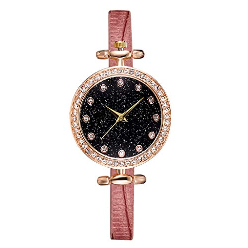 scamper Belt Watch for Women Wristwatches Womens Watches Teenagers Student Frosted Dial Heart Shape Pattern Leather Quartz