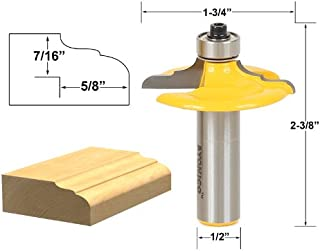 Yonico 12164 Classical Euro Style Door and Drawer Front Edging Router Bit 1/2-Inch Shank