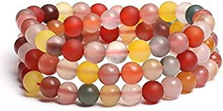 Yigedan Natural Candy Colored Old Agate Bracelet