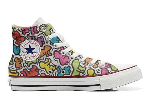 Unbekannt Sneaker & Sportschuhe USA - Base Print Vintage 1200dpi - Italian Style - Hi Customized personalisierte Schuhe (Handwerk Schuhe) Leben stilizzato TG39