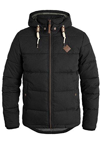 !Solid Dry Herren Jacke Steppjacke Winterjacke gefüttert mit Kapuze, Größe:L, Farbe:Black (9000)