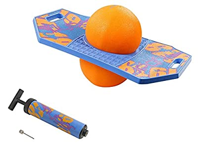 Flybar Pogo Ball for Kids, Jump Trick Bounce Board with Pump and Strong Grip Deck (Blue Dawn 2) (FBPTBX-BD) by Flybar