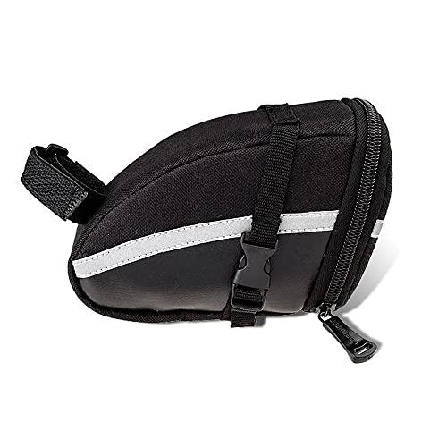 Bolsa de sillín de bicicleta al aire libre Bolsa de asiento de ciclismo impermeable 1.2L Bolsa de almacenamiento de tija de sillín portátil Estuche de kit de tubo interior de maleta trasera trasera