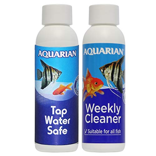 AQUARIAN Freshwater and Saltwater Fish Tank Water Conditioners Bundle:...