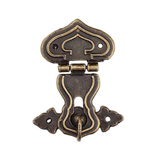 YUTRD ZCJUX 1 unid Bloqueo HASP Hook Metal 5 Tornillos Antiguo Bronce 63x47mm Caja de Madera Decorativa Caja de Cofre Pecho Hardware de Hierro Vintage