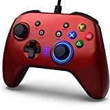 Mando de Juegos con Cable, Joystick Gamepad Doble Vibración, Controlador de Juegos PC compatible PS3, Switch, PC Windows 10/8/7, Portátil, TV Box, Teléfonos Móviles Android, Cable USB de 6.5 pies