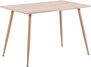 GOLDFAN Rectangulaire Table à Manger en Bois Rétro Style Industrielle Table de Cuisine Salle à Manger Salon Bureau Pieds e...
