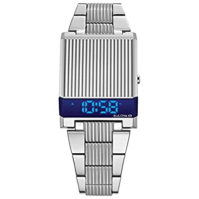 Bulova Archive Series: Computron - 96C139 Stainless Steel/Blue One Size from Bulova