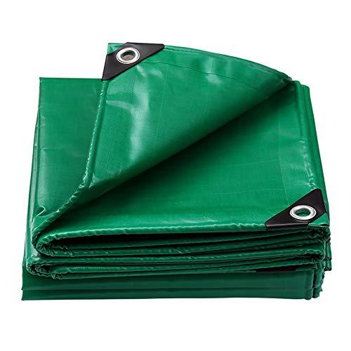 ZEMIN Bâche Protection Couverture Imperméable Conservateur Tente Crème Solaire Qualité des Trous PVC, Vert, 550G/M², Plusieurs Tailles (Color : Green, Size : 4.8 m x 6.8 m)