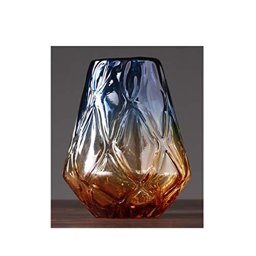 Américain Couleur Transparent Vase en Verre Accueil décoration Table Dessus Fleur décoration de la Fleur Afficher JSFQ (Size : C High 29CM)