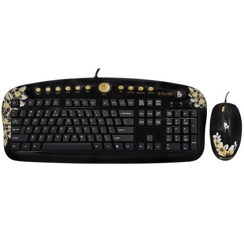 Gembird GKSA-2803SS Tastatur USB QWERTZ Schwarz - Tastaturen (Verkabelt, USB, QWERTZ, Schwarz, Maus enthalten)