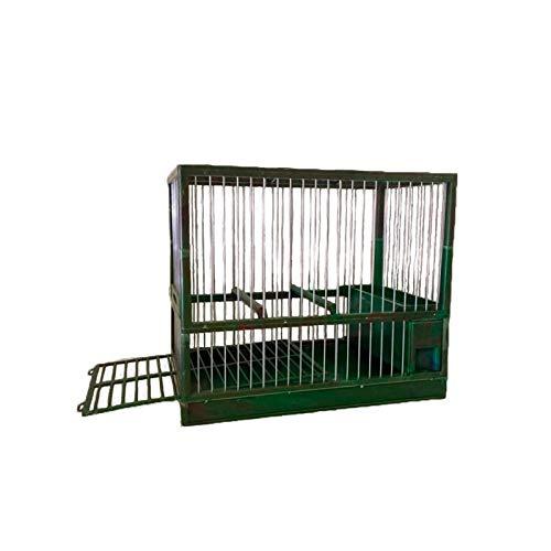 Complementos Para Aves - Jaula de reclamo C2 Verde Camuflaje, con cajón y Rejilla
